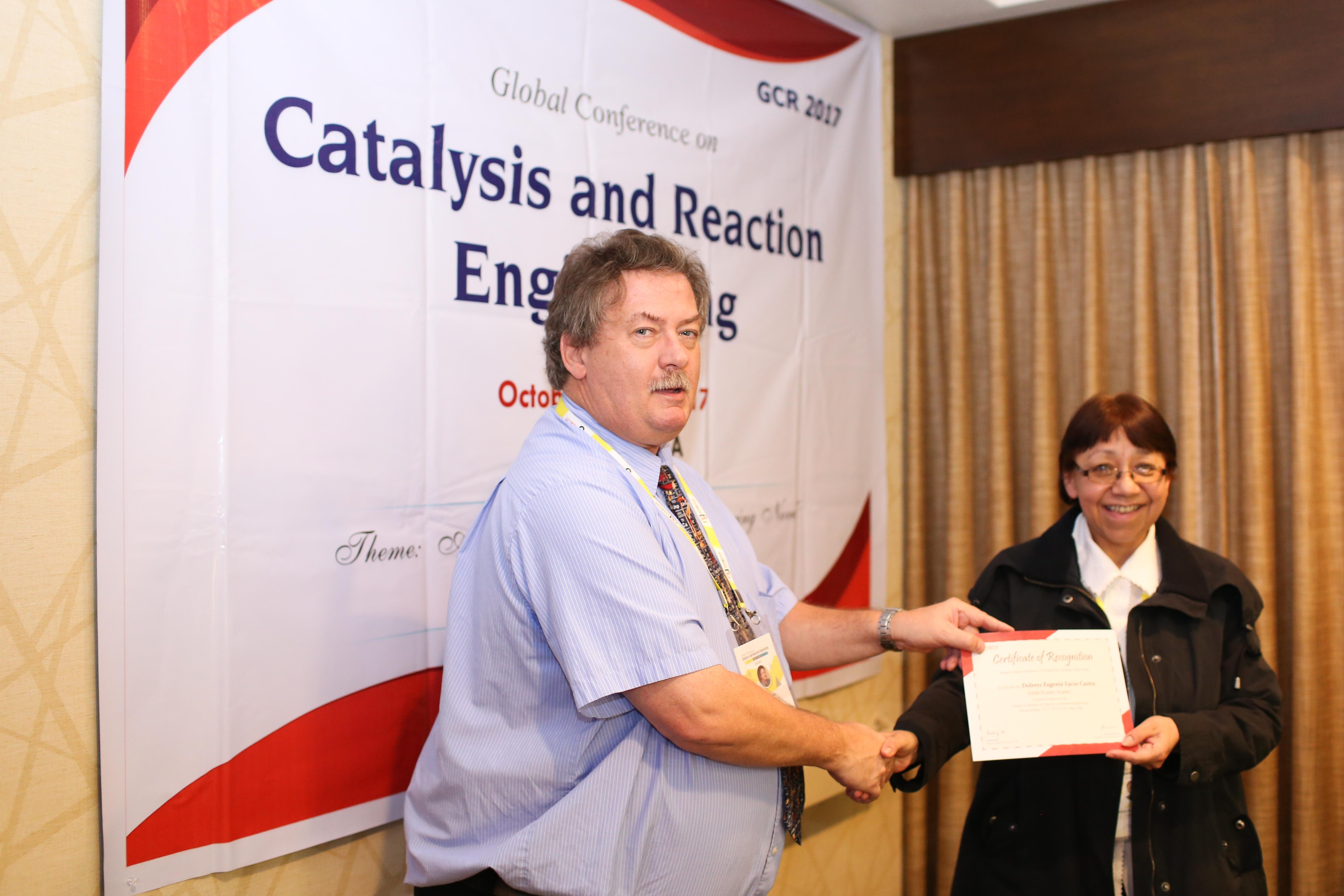 Dolores Eugenia Lucio Castro felicitated by Allen Apblett