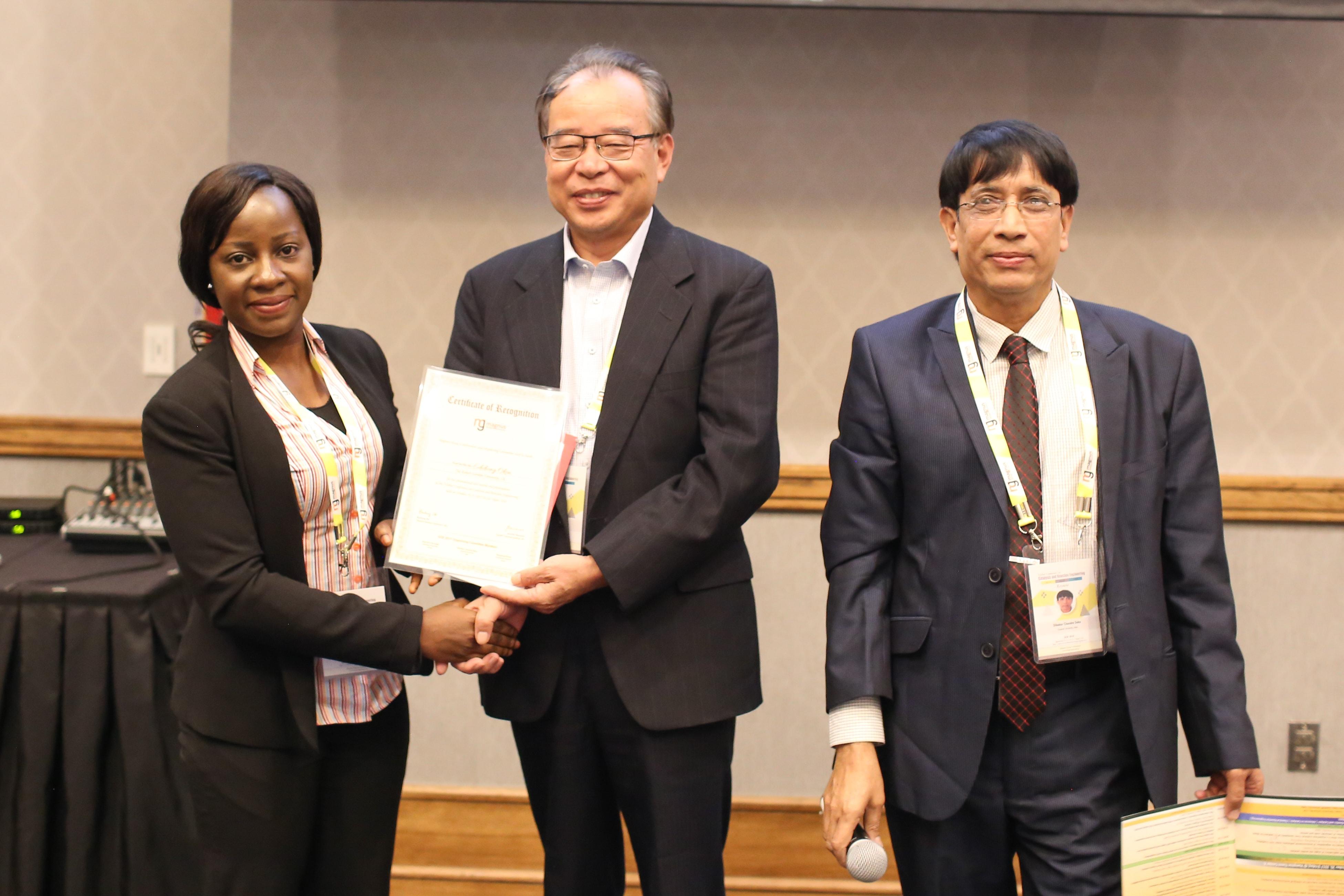 Edidiong Okon felicitated by Buchang Shi