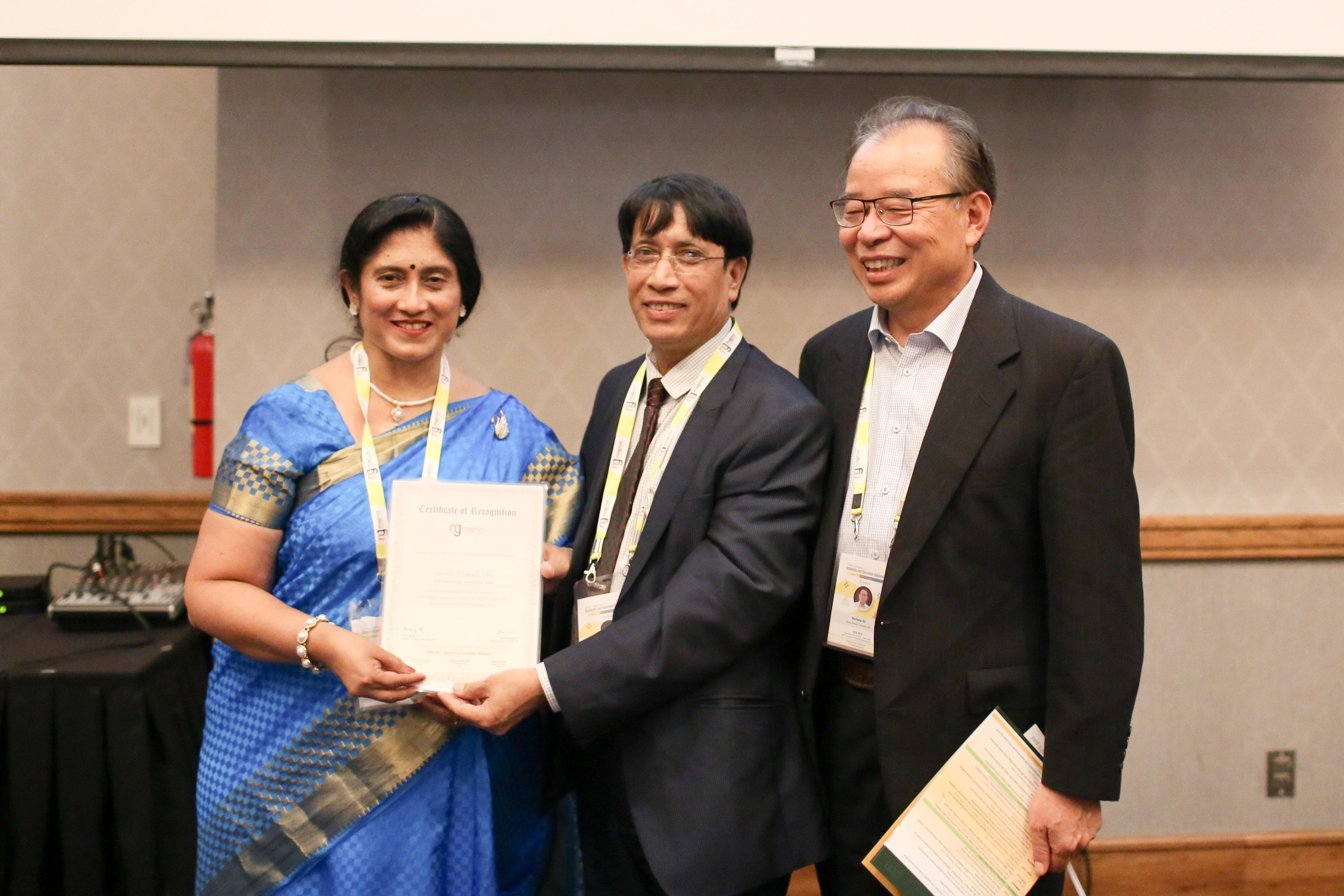 Nirmala Vaz felicitated by Dibakar Chandra Deka