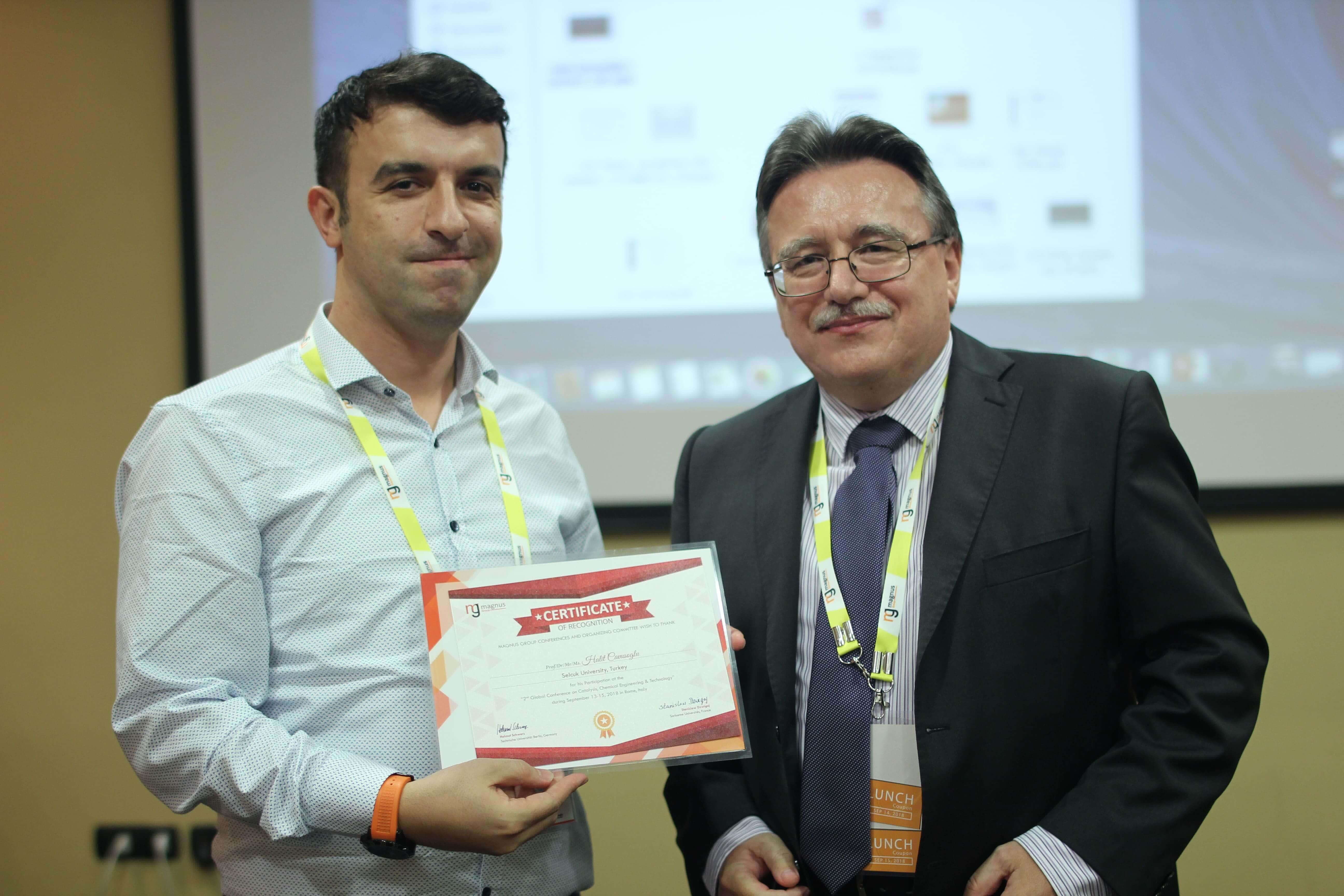 Halit Cavusoglu felicitated by Jan Cermak